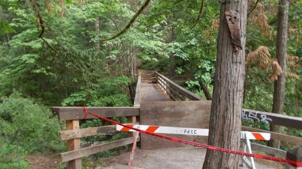 Bowen Park bridge fire Nanaimo