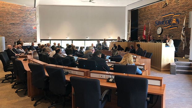 County of Simcoe council pictured on Tues., June 11, 2019 (CTV News/Mike Walker)