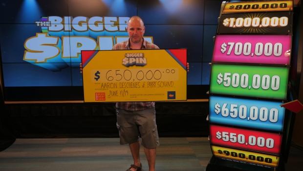 Northern Ontario Bigger Spin lottery winner