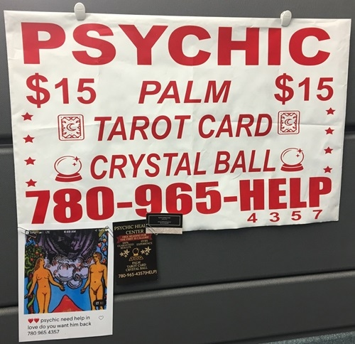 This is an ad that Edmonton police said Cynthia Burt, who faces 10 fraud charges, used to sell her psychic services.