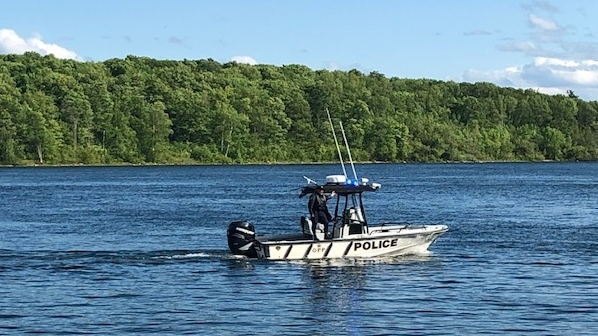 OPP boat rescue crews continue to search the St. Lawrence River for a diver who went missing Tuesday.