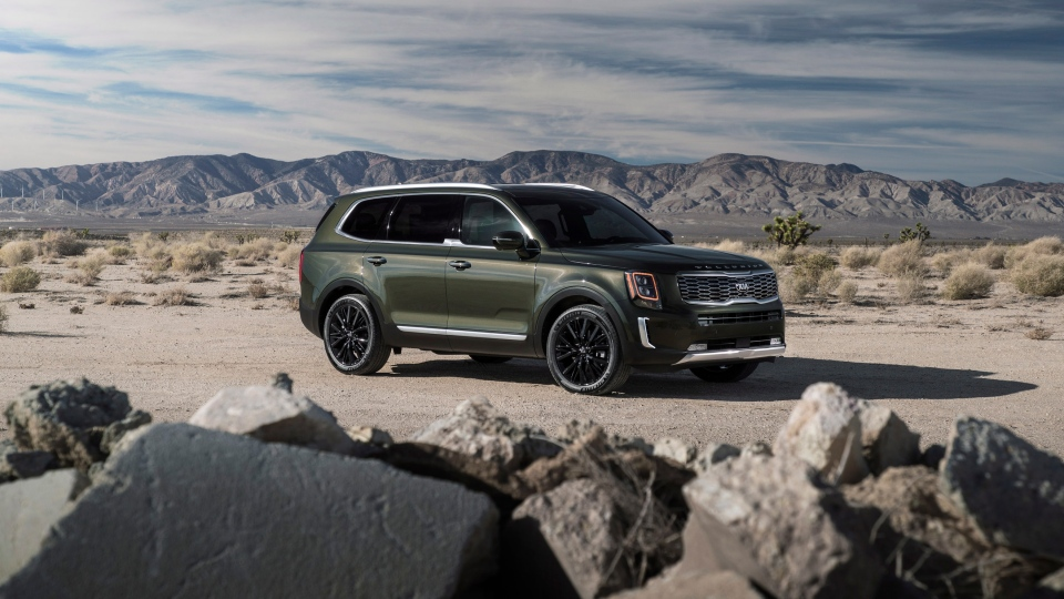 This undated photo provided by Kia shows the 2020 Kia Telluride, a new SUV that delivers bold styling while still being comfortable, spacious and reasonably priced. (Kia Motors America via AP)