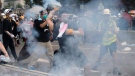 Protesters in Hong Kong clash with police