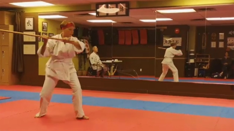 After a frightening encounter, Merina felt powerless until she took up martial arts lessons. June 11, 2019. (CTV Vancouver Island)