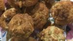 Cardamom ginger rhubarb muffins