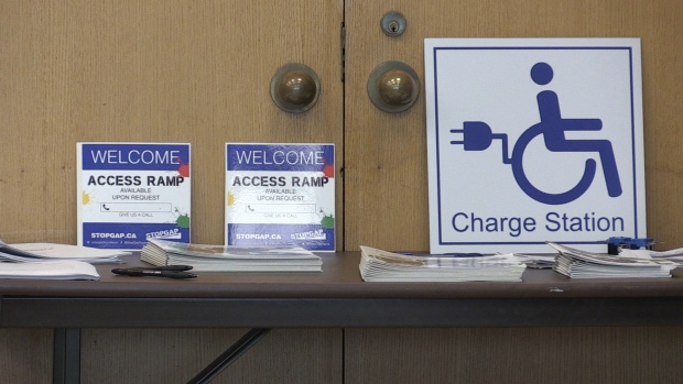 New mobility device charging stations in the Soo