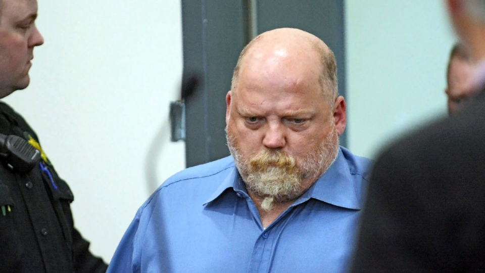 In this Friday, May 18, 2018, file photo, William Earl Talbott II enters the courtroom at the Skagit County Community Justice Center before entering a plea of not guilty for the 1987 murder of Tanya Van Cuylenborg in Mount Vernon, Wash. (Charles Biles/Skagit Valley Herald via AP, File)