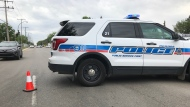 Regina police are blocking a street in north Regina (Joey Slattery / CTV Regina)