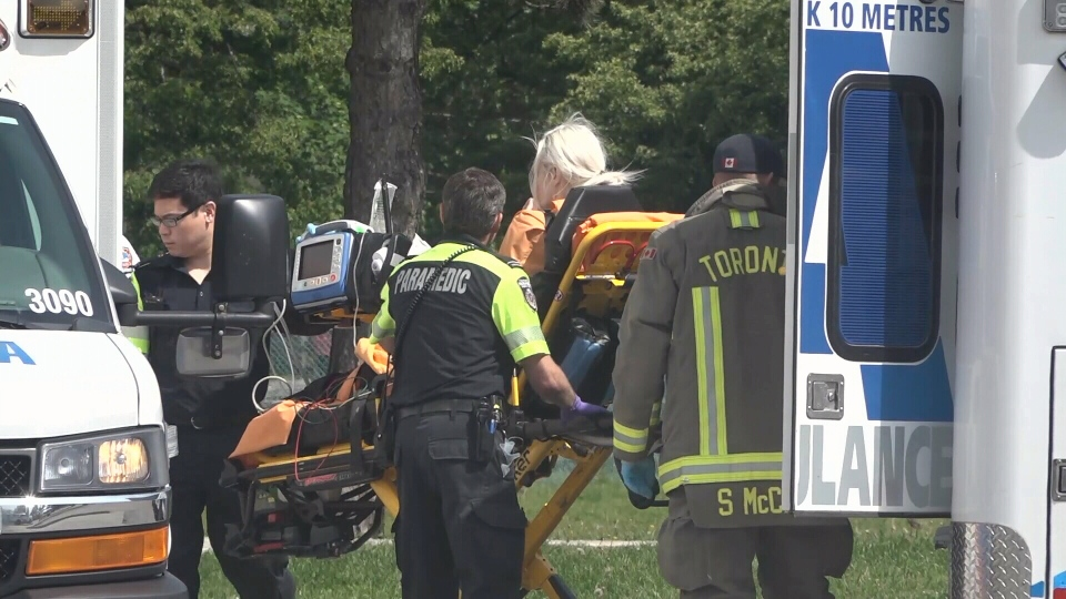 Emergency crews attend the scene of an incident on on Lake Promenade on June 12, 2019.