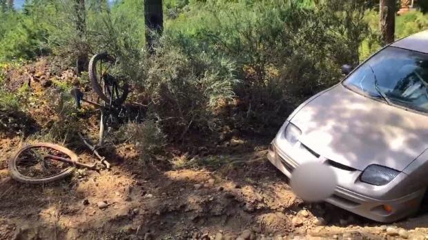Cumberland cyclist struck
