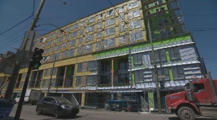Montreal condo construction