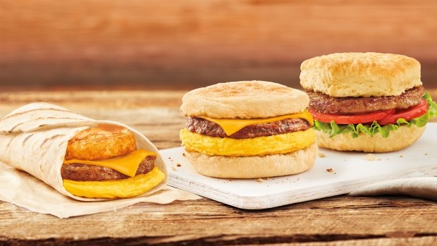 Three plant-based breakfast sandwich options will be available at Tim Hortons restaurants across Canada starting today. (CNW Group / Tim Hortons)