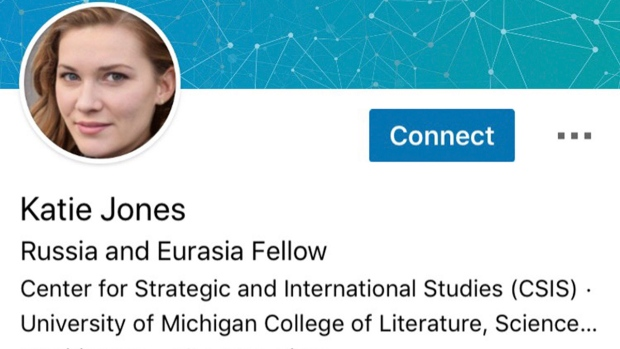 'Katie Jones' on LinkedIn