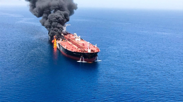 U.S.  blames Iran for attacks on 2 tankers near Persian Gulf