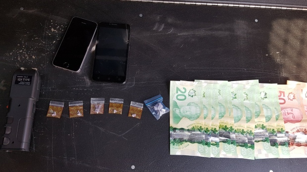 Things seized in the course of an arrest
