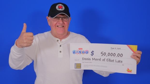 Denis Morel of Elliot Lake wins $50,000