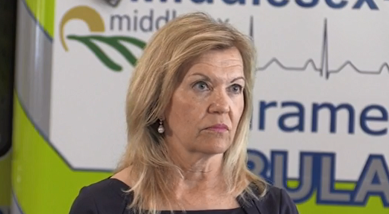 Ontario Health Minister Christine Elliott discusses the issue of a permanent drug consumption site for London on Thursday, June 13, 2019.