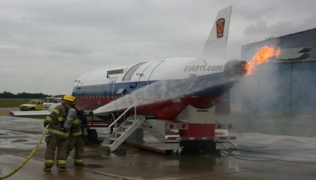 This is only a test: Smoke and fire part of airport training