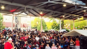 Thousands of fans gathered in Rockford, Ill. to cheer on Fred VanVleet on Monday, June 10.