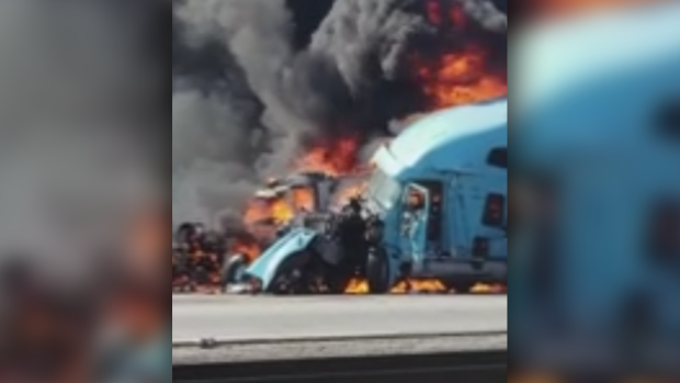 Semi-truck driver killed in fiery crash was Surrey resident