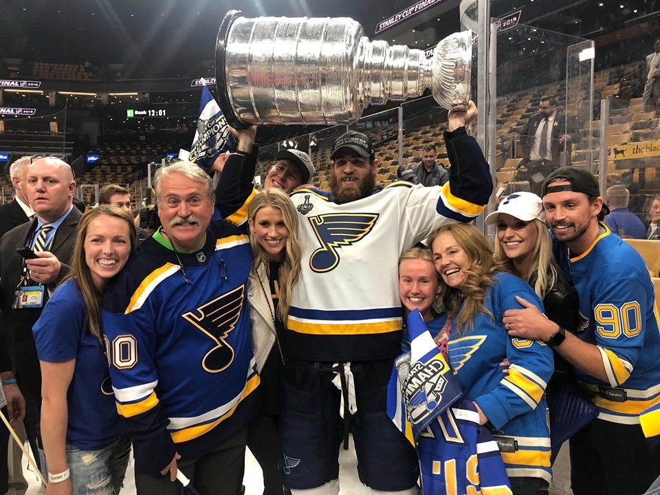 Ryan O'Reilly celebrates winning the Stanley Cup on Wednesday, June 12, 2019.