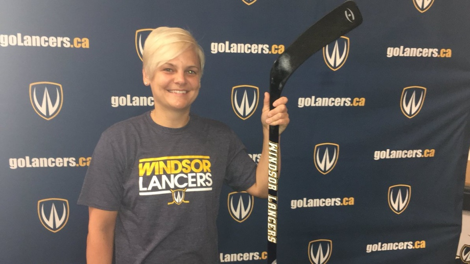 University of Windsor women's hockey coach Deanna Iwanicka in Windsor, Ont., on Thursday, June 13, 2019. (Bob Bellacicco / CTV Windsor)