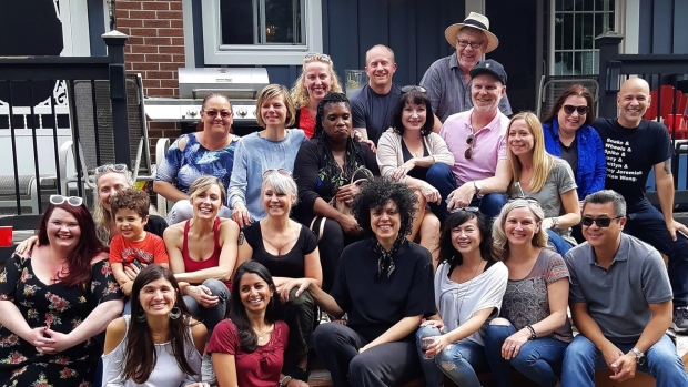 Former cast members of the original Degrassi television series pose in this recent handout photo. (Carmela Scalzi)
