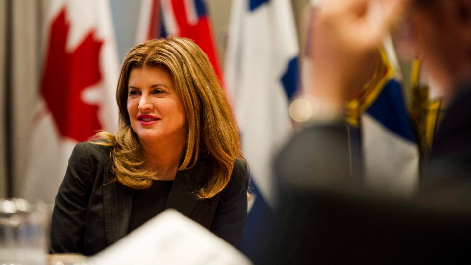 Former Conservative Party of Canada interim Leader Rona Ambrose participates in discussions on the modernization of the North American Free Trade Agreement, in Toronto on Friday, September 22, 2017. THE CANADIAN PRESS/Christopher Katsarov