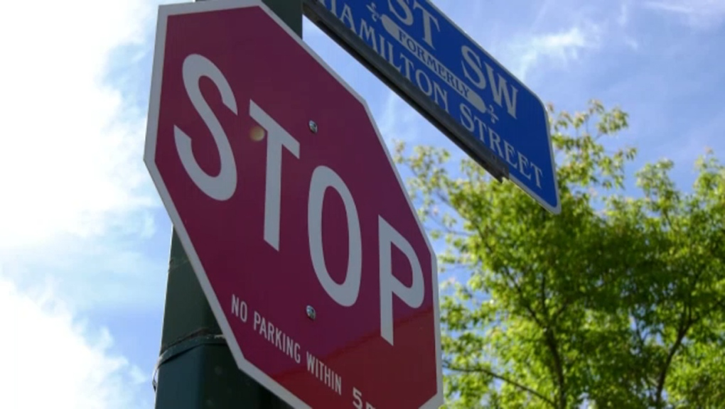 Mission, stop sign, Calgary