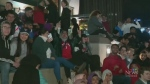 Soggy weather isn't deterring Raptors fans