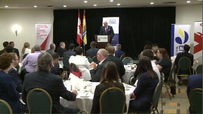 """Quite frankly ladies and gentlemen, New Brunswick has gotten the shaft,"" Kevin Vickers told a business audience in Saint John. ""It is the forgotten child of Confederation."""