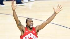 Toronto Raptors' Kawhi Leonard (2) celebrates