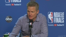 Warriors coach Steve Kerr speaks after loss
