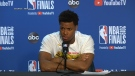 Kyle Lowry speaks to media