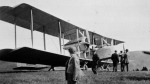 The Vickers Vimy aircraft of Captain John Alcock and Lieutenant A.W. Brown ready for trans-Atlantic flight, Lester's Field, St. John's on June 14, 1919.  (THE CANADIAN PRESS/National Archives of Canada)