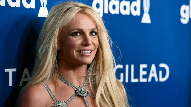 This April 12, 2018, file photo shows Britney Spears at the 29th annual GLAAD Media Awards in Beverly Hills, Calif. (Photo by Chris Pizzello/Invision/AP, File)
