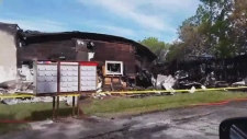 Scene of the aftermath of a fire in Sturgeon Falls
