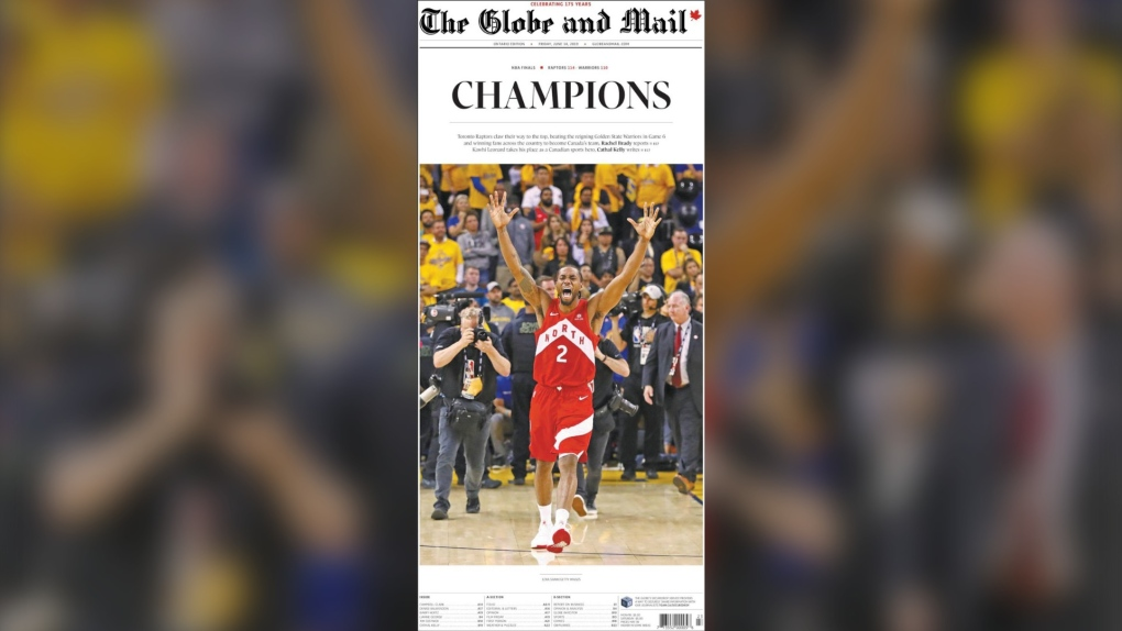 From California to Canada: A look at newspaper front pages day after Raptors historic win