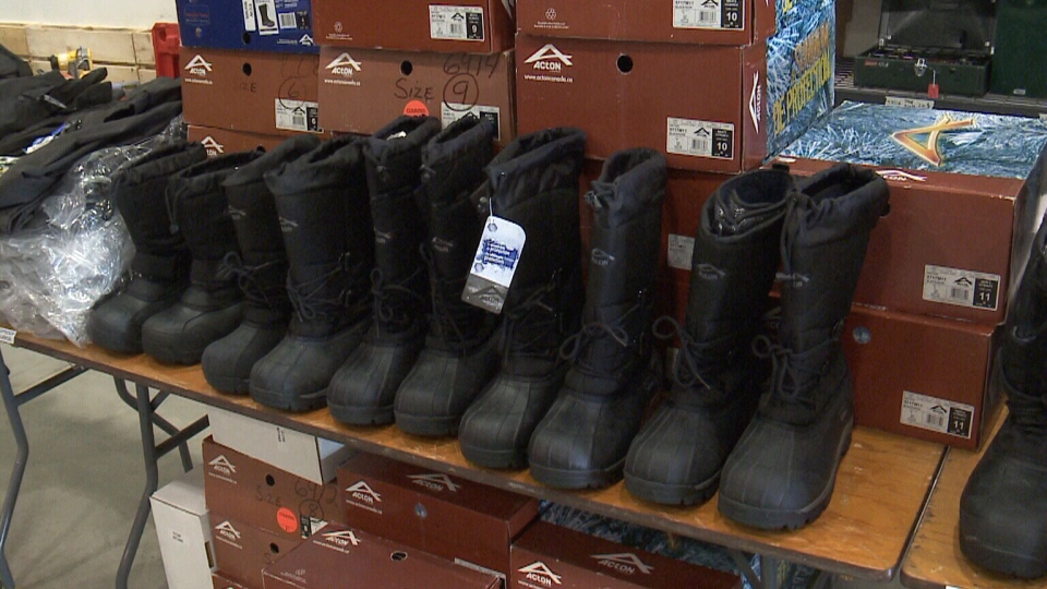 The federal government will open its surplus warehouse to the public for the first time on Saturday, where items the government is no longer using, such as boots and office chairs, will be up for sale.