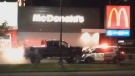 RCMP smash, Westlock McDonald's