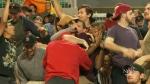 Regina celebrates the Raptors big win