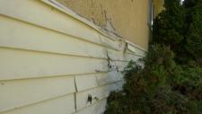 siding damage home