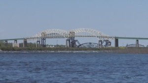 A look at the International Bridge that connects Sault Ste. Marie in Ontario to Michigan. Jun 2019. (Nicole Di Donato/CTV Northern Ontario)