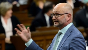 Minister of Justice and Attorney General of Canada David Lametti stands during question period in the House of Commons on Parliament Hill in Ottawa on Monday, June 10, 2019. THE CANADIAN PRESS/Sean Kilpatrick