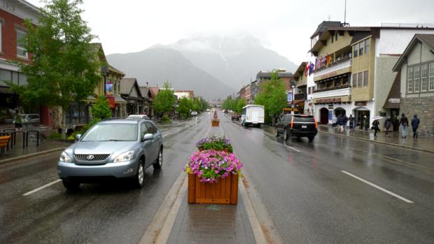 Banff, parking, transportation, traffic congestion