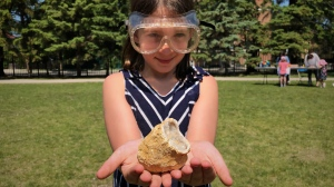 Students from Winnipeg's Balmoral Hall School took a hand-on approach to science at this year's STEAM Festival on Friday, June 14, 2019.