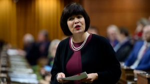 Minister of Health Ginette Petitpas Taylor stands during question period in the House of Commons on Parliament Hill in Ottawa on Friday, June 14, 2019. THE CANADIAN PRESS/Sean Kilpatrick