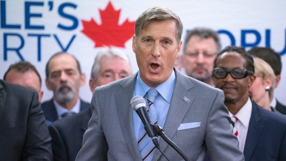 People's Party leader Maxime Bernier presents a list of Montreal-area candidates for the next federal election in Montreal on Friday, June 14, 2019. THE CANADIAN PRESS/Paul Chiasson
