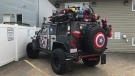 Dr. Jon Adamis's 'Avengers' Jeep is seen in Edmonton on Friday, June 14, 2019.