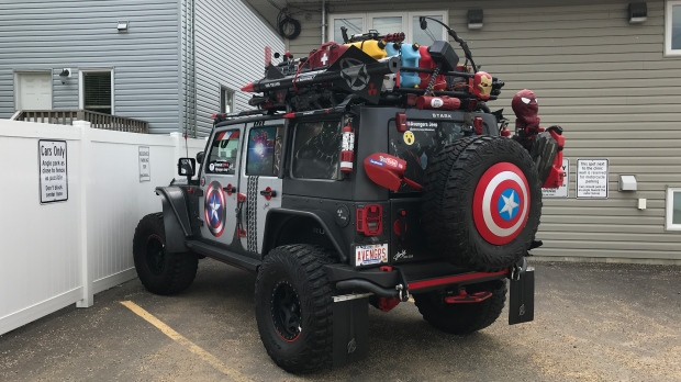 'Avengers' Jeep